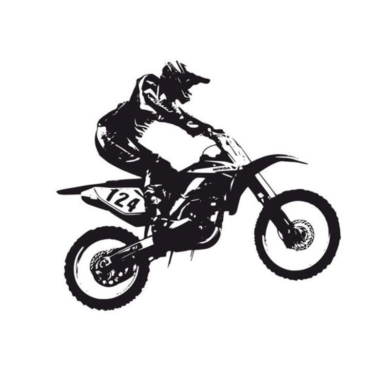 Motorcycle Racing Silhouette