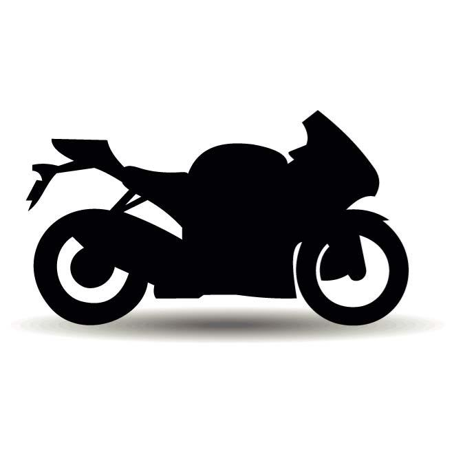 660x660 Motorcycle Silhouette Vector