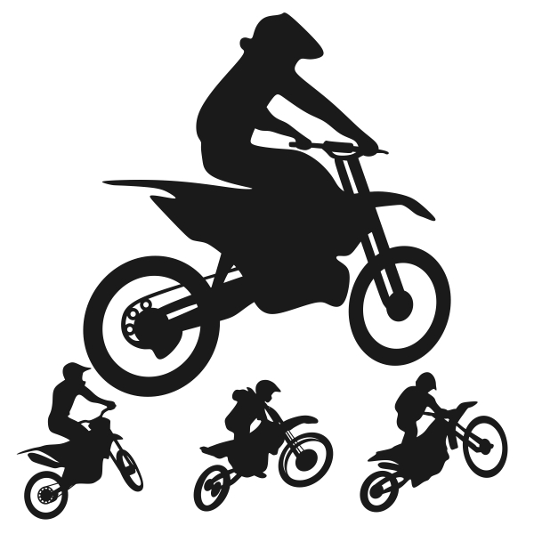600x600 Motorcycle Dirt Bike Svg Silhouette Cuttable Design
