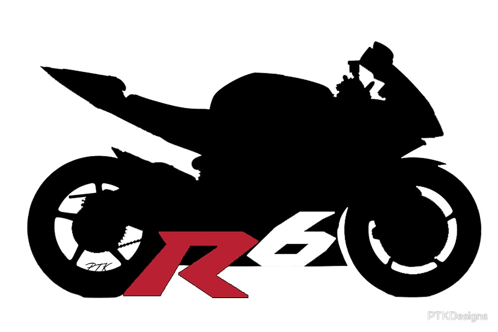 1000x666 Yamaha R6 Silhouette By Ptkdesigns Redbubble