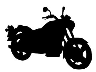 320x238 Motorcycle Silhouette 1 Decal Sticker