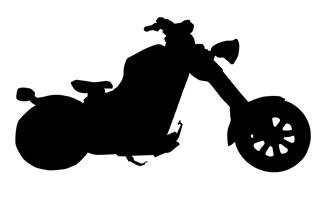 320x198 Motorcycle Silhouette 2 Decal Sticker
