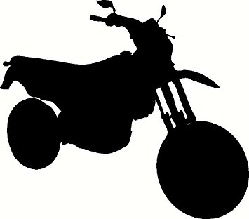 355x312 Motorcycle Silhouette, Bike, Riding, Vinyl Wall Art