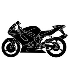Motorcycle Silhouette Clip Art Free