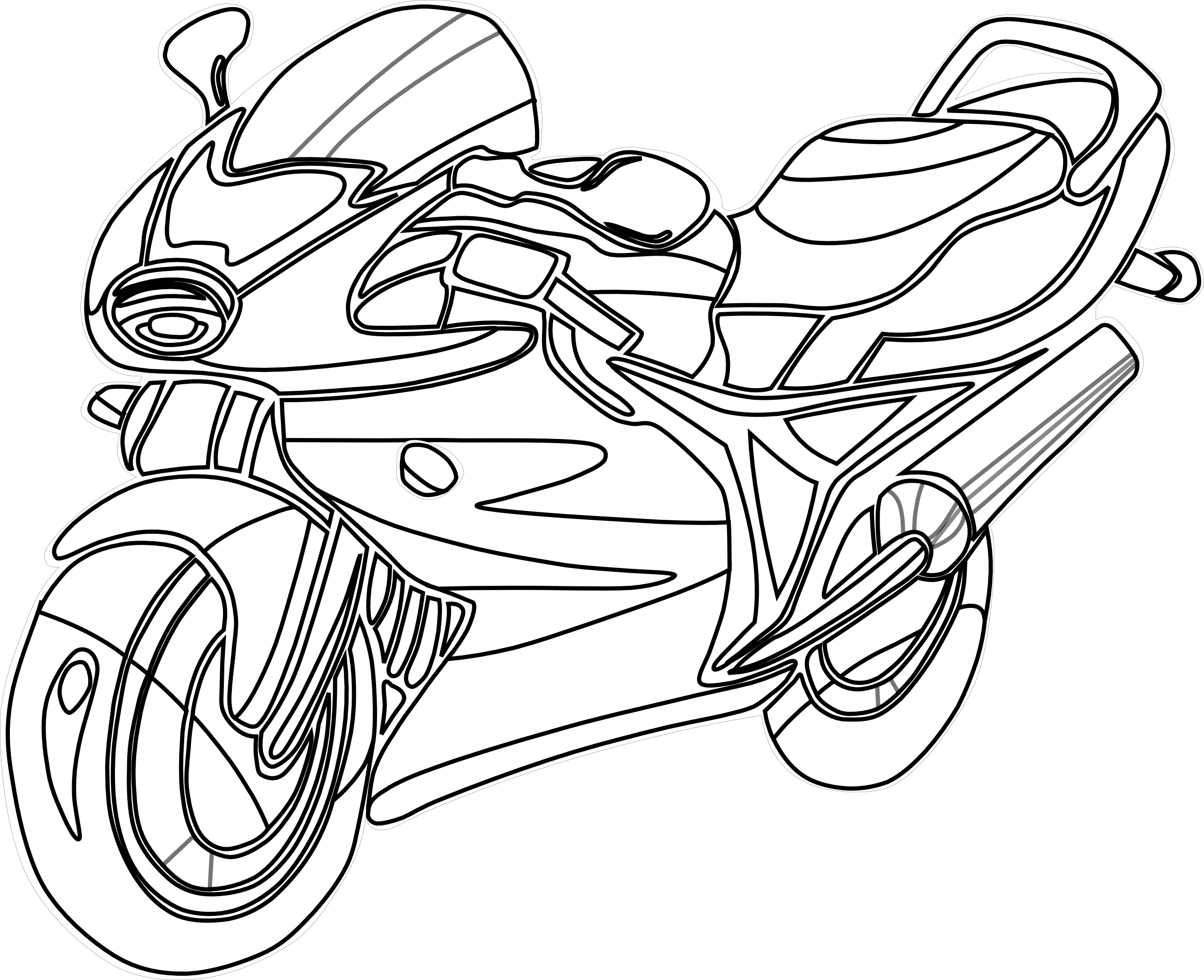 2555x2081 Free Motorcycle Silhouette Clip Art Free Vector For Free Download