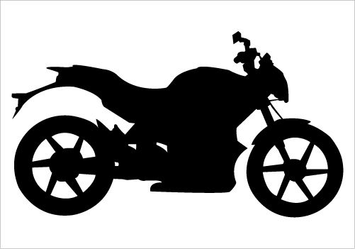 501x351 Motorbike Silhouette Vector On Road For Motorized Extreme Sports