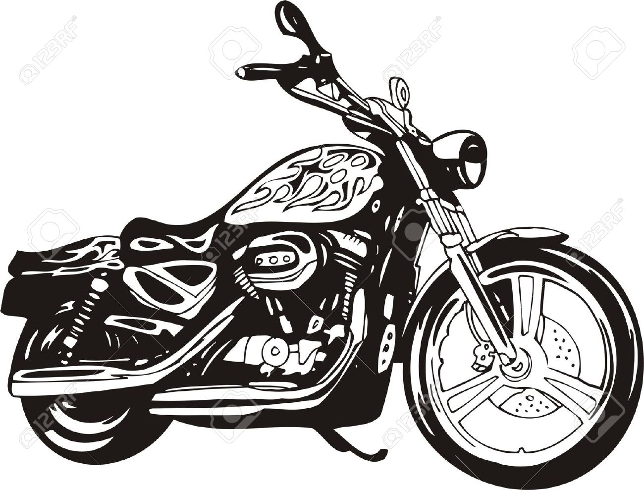 1300x989 Motorcycle Silhouette Clipart
