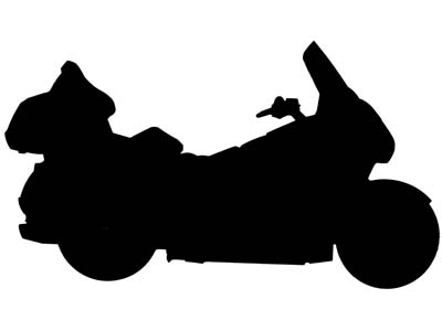400x300 Motorcycle Silhouette