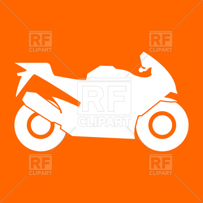 400x400 Motorcycle Silhouette Royalty Free Vector Clip Art Image