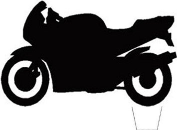 355x261 Buy Novelty Motorbike Silhouette 12 Edible Stand Up Wafer Paper