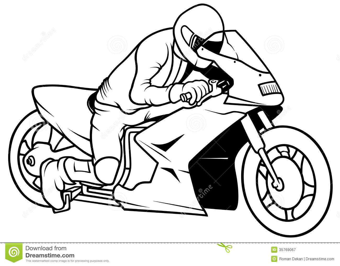 Motorcycle Silhouette Vector At Getdrawings Com Free For Personal