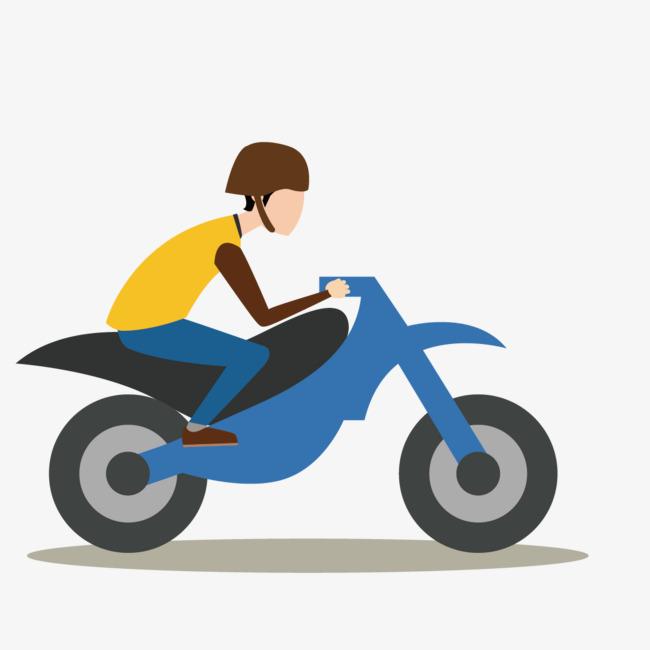 650x650 Vector Man Riding A Motorcycle, Vector, Riding A Motorcycle, Man