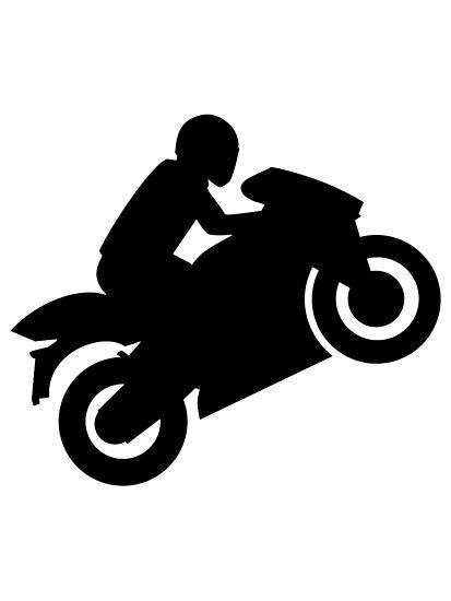 Motorcycle Wheelie Silhouette At Getdrawings Com Free