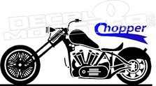 223x123 Motorcycle Chopper Silhouette Decal Sticker