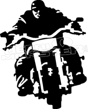 178x220 Motorcycle Rider Silhouette Decal Sticker