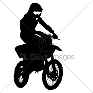 325x325 Motorcycle Rider Silhouette Gl Stock Images