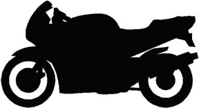 288x156 Motorcycle Silhouettes Clip Art