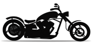 190x95 Motorcycle Chopper Silhouette By Dvis Spreadshirt