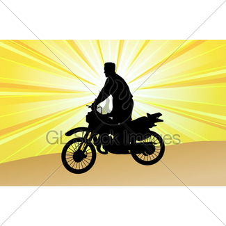 325x325 Silhouette Of Stunt Man. Gl Stock Images