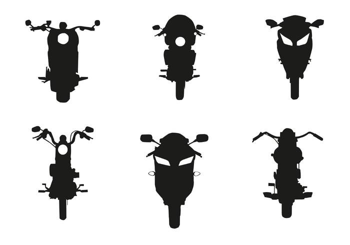 700x490 Vector Motorcycle Front Silhouette