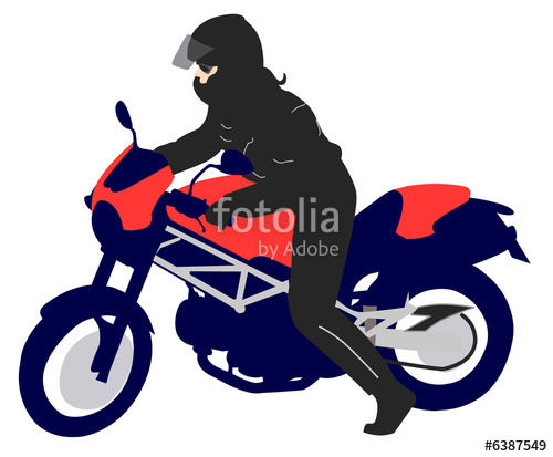 500x413 Female Motorcyclist Illustration Stock Photo And Royalty Free