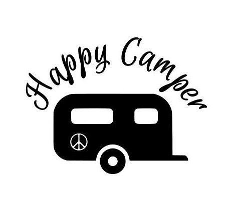 477x432 Happy Camper Vinyl Decals Stickers Camping By Scrapshackmetal