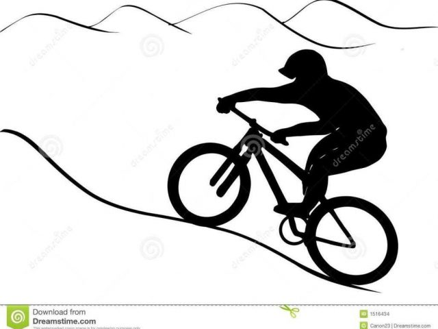 mountain bike silhouette at getdrawings com free for personal use rh getdrawings com clipart mountain bike rider mountain bike clipart free
