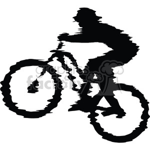 300x300 Royalty Free Mountain Bike Rider 384562 Vector Clip Art Image