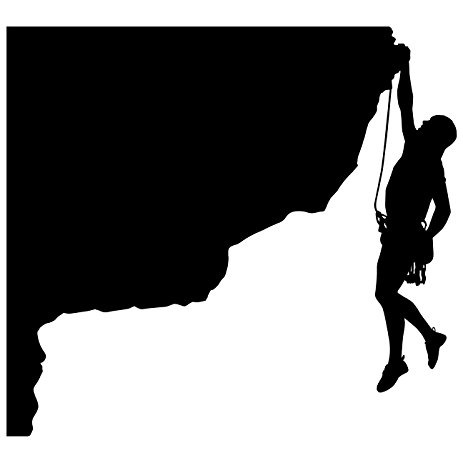 463x463 Rock Climbing Wall Decal Sticker 20