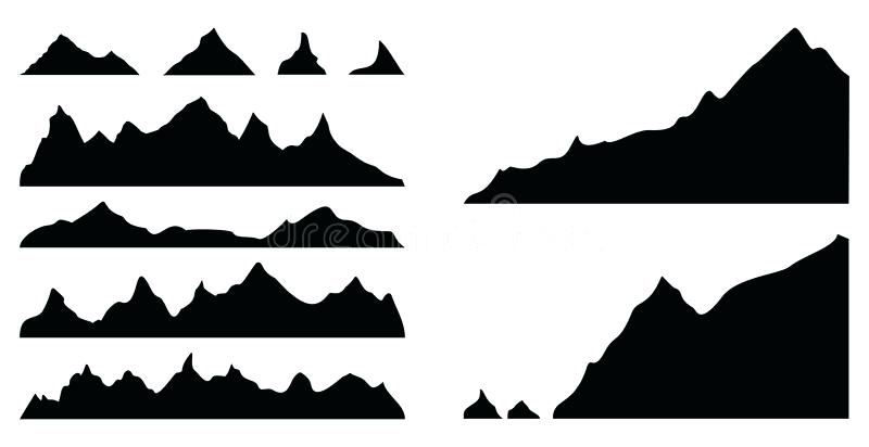800x412 Mountain Silhouette Mountain Silhouette Vector Mountain Range
