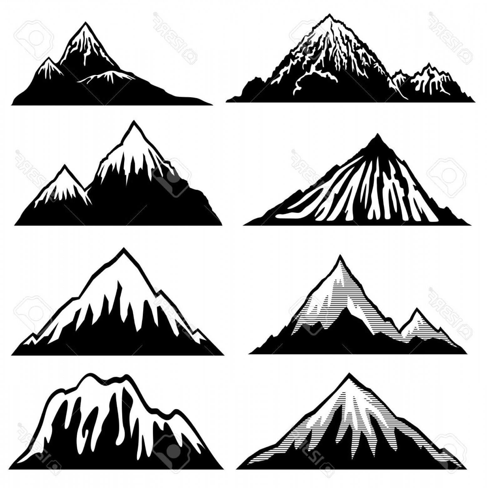 1558x1560 Mountain Range Silhouette Vector Free Createmepink