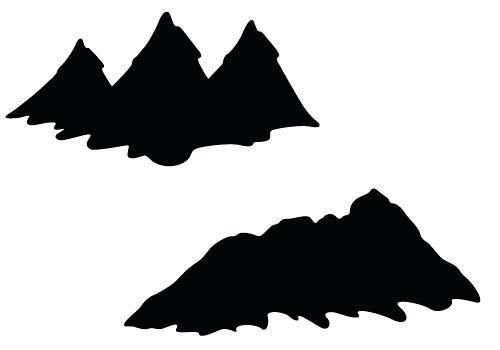 500x350 Mountain Silhouette Mountain Silhouette Mountain Range Silhouette