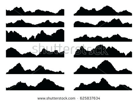 450x333 Mountain Silhouette Mountain Silhouette Vector Mountain Range