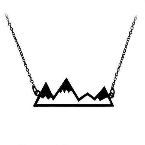 480x480 Silhouette Mountain Top Pendant Necklace Trail Side Supply