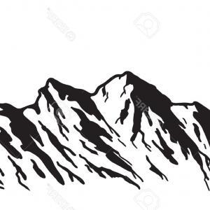 300x300 Artistic Photostock Vector Mountain Range Symbol Silhouette