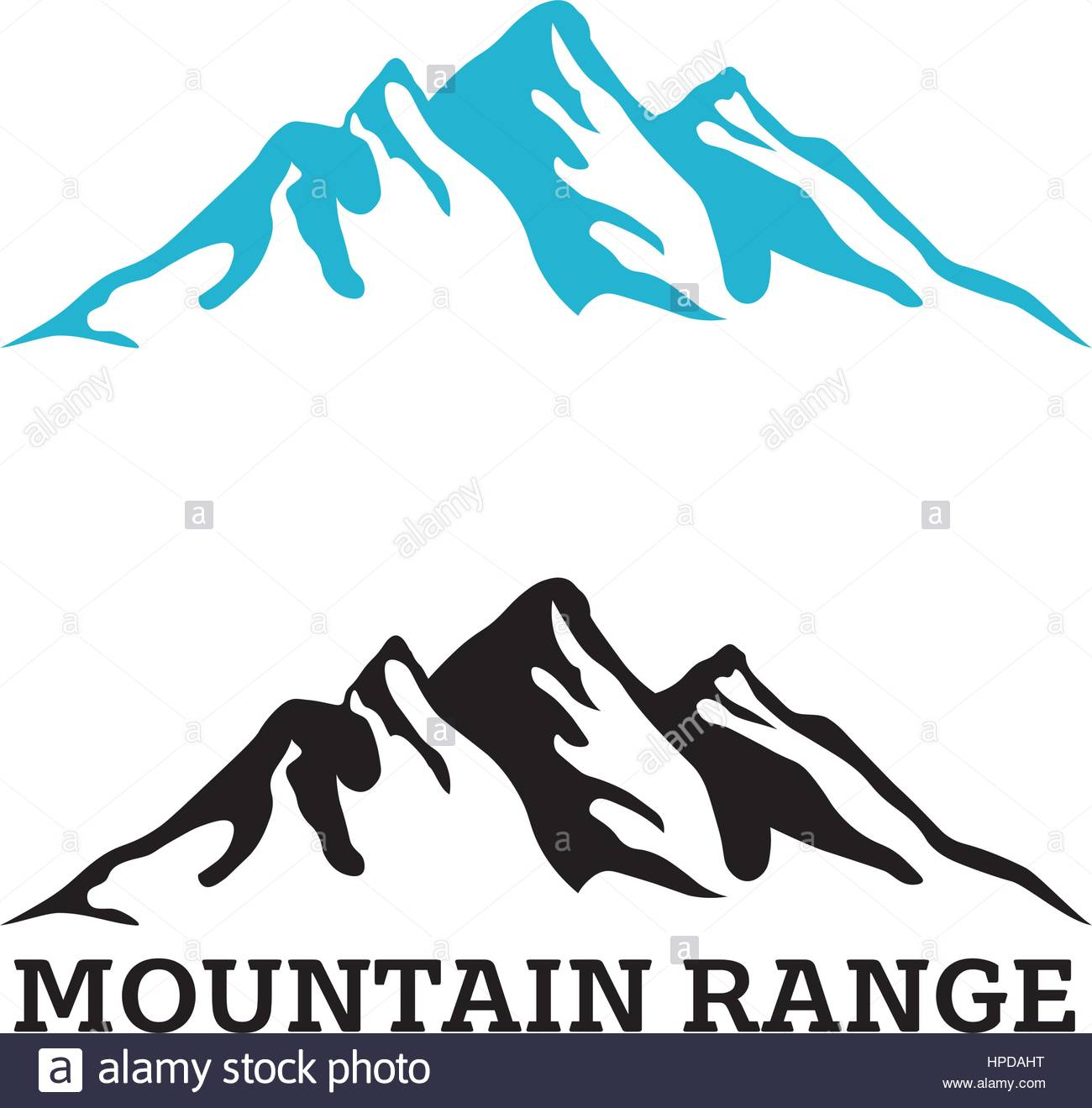 1300x1319 Company Logo Template With Mountain Range Silhouette Stock Vector