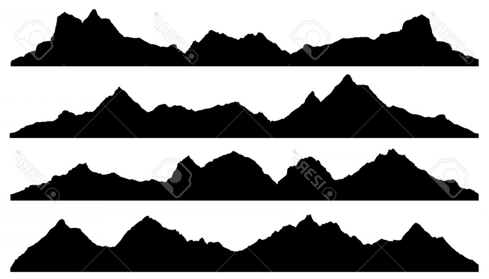 1560x890 Elegant Photostock Vector Mountain Silhouettes On The White