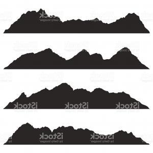 300x300 Mountain Lake Graphic Art Black White Landscape Illustration