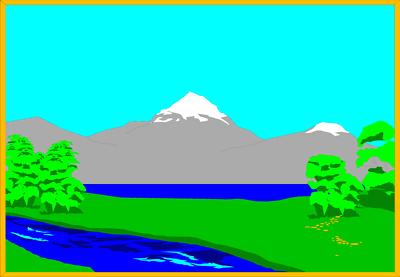 400x277 Mountain Landscape Clipart