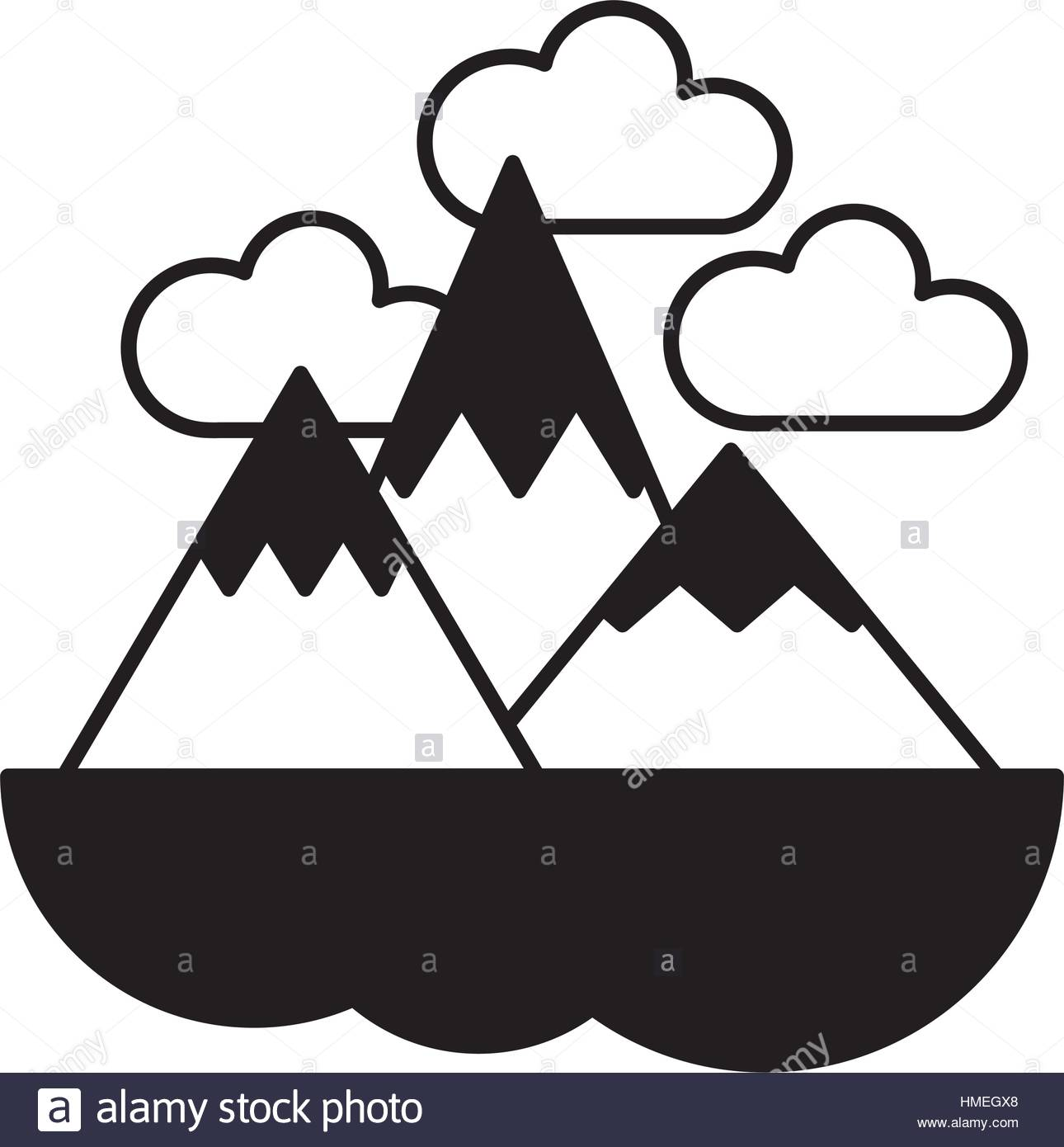1290x1390 Mountain Range Cut Out Stock Images Amp Pictures
