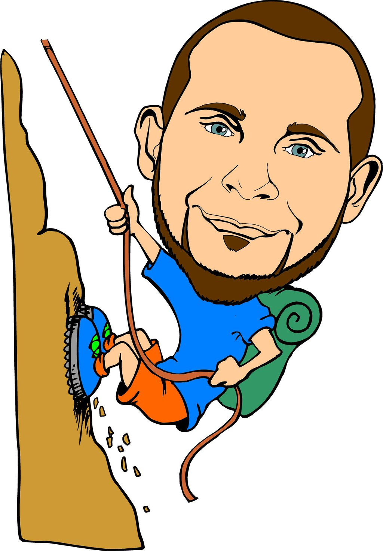 1024x1471 Mountain Climber Clipart