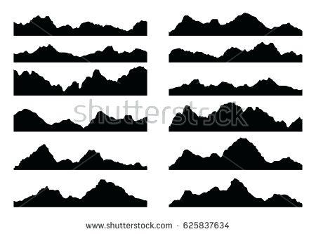 450x333 Silhouette Mountain Silhouette Mountain Bike Scene Vector Image