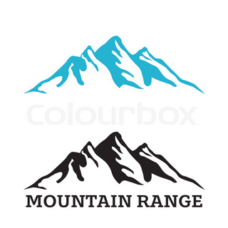 320x320 Vector Silhouette Mountain Ram On White Background Stock Vector