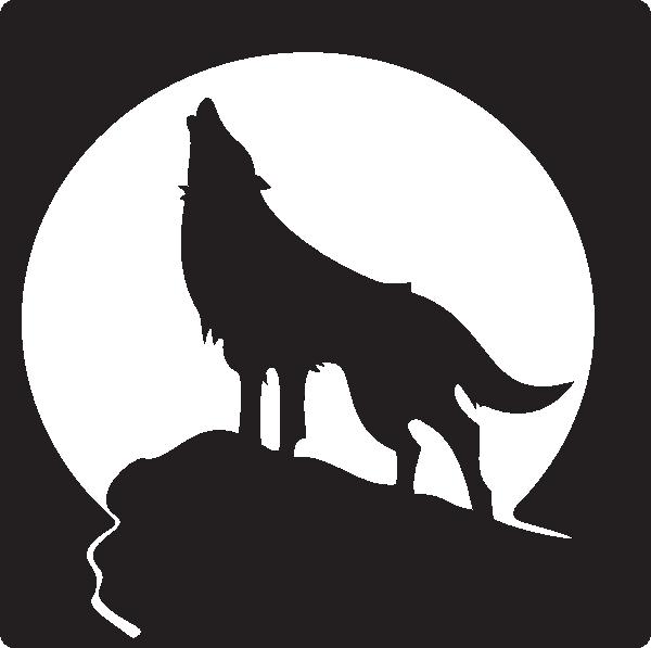 600x597 Free Clip Art Wolves Howling Wolf Clip Art