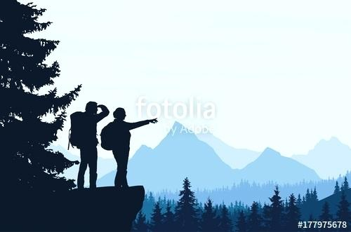 500x331 Mountain Landscape Silhouette Mountains Silhouette By Mountain