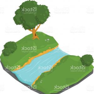 300x300 Mountain Landscape With River Vector Clipart Createmepink