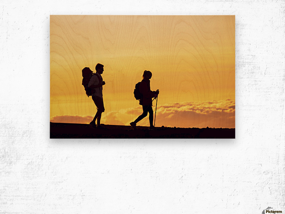 1200x900 Silhouettes Of Two Hikers With Backpacks Walking