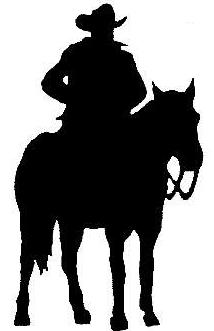 214x331 Western Scene Clipart Silhouette Collection