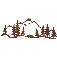 236x236 Mountain Metal Art Mountain Scene 42 X 15 Steel Wall Art By