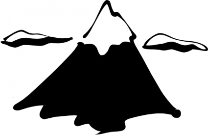 425x275 Ink Outline Mountain Silhouette Cartoon Free Mountains Sneptune